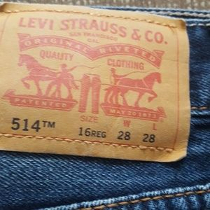 Boys 16 regular levi jeans